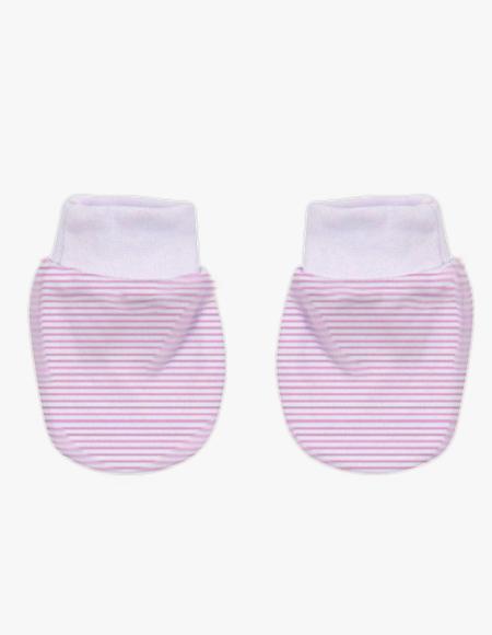 Pink Stripe Mittens