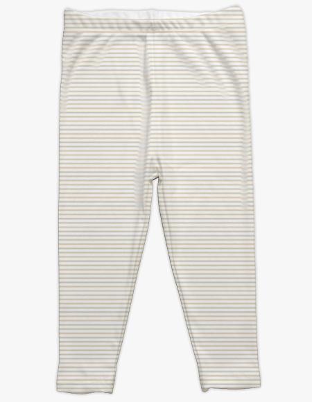 Beige Stripe Leggings