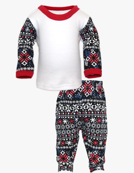 Christmas Fairisle Printed Pyjama Set
